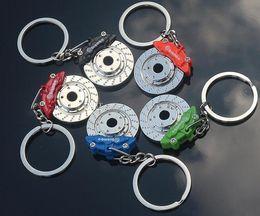 Key Parts Keyrings Australia - 2016 New Creative Hot Sale Auto Parts Model zinc alloy Motorcycle Car Disc Brake Shape Keychain Keyring Key Chain Ring Fob