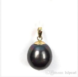 14k yellow gold heart pendant NZ - 2019 HUGE NEW 11-13MM BLACK TAHITIAN PEARL PENDANT NECKLACE 14K yellow gold