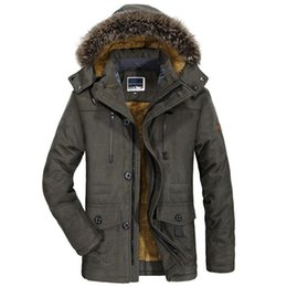 $enCountryForm.capitalKeyWord Australia - Mens New Fashion Winter Jacket Men Thick Casual Outwear Jackets Men's Fur Collar Windproof Parkas Plus Size 6XL Velvet Warm Coat