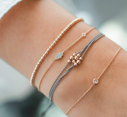 ElEphant jEwElry sEts online shopping - Bangle Elephant Heart Shell Star Moon Bow Map Crystal Bead Bracelet Women Charm Party Wedding Jewelry Accessories