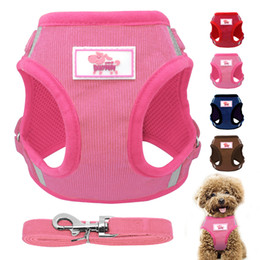 dog vest harnesses NZ - Dog Vest Harness and Leash Set Breathable Nylon Small Dog Harness and Leads for Small Medium Dogs Cats