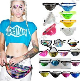 $enCountryForm.capitalKeyWord UK - Women Fanny Pack Laser Hologram belt Waist Bag Waterproof Translucent Shiny Chest Bags Travel Beach Purse Bum Bag Pouch C72601