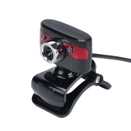 Wholesale New USB Megapixel HD Webcams with Absorption Mic Auto Focus Clip on Web Camera CMOS Meters for Desktop Computer Laptop