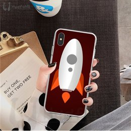 flying iphone Canada - 2020 Spacecraft Rocket Flying High Quality Silicone Phone Case for iPhone 11 pro XS MAX 8 7 6 6S Plus X 5 5S SE XR cover wholesale