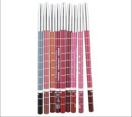 Wholesale- 100% Safe 12Pcs Lot Lip Pencil Kit 12 Colors Waterproof New Long-Lasting Lip Pen Batom Mate Lip Liner Make Up Tools 15Cm on Sale
