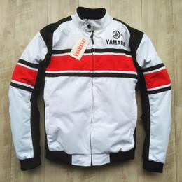yamaha gear 2019 - White Motorcycle Jacket For YAMAHA MOTO GP Racing Team Moto Motorbike Windproof Jacket Protective Gear cheap yamaha gear