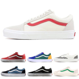 6a2f4b32d9 Fashion Hot YACHT CLUB Vans old skool FEAR OF GOD black white MARSHMALLOW  36 DX PRIMAR men women sneakers fashion skate casual shoes