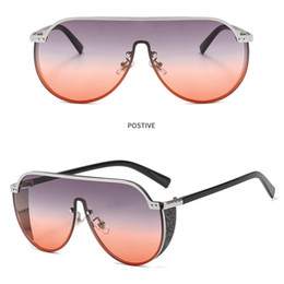 super cat eye sunglasses 2019 - Cat Eye Pink Sunglasses for Men and Women 2019 Shades Mirror Square Sun Glasses UV 400 Fashion Super Big Frame Polarized
