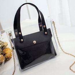 Packaging Ladies Handbag Australia - 2019 the new handbag Fashion Lady Shoulders Jelly Package Handbag Purse Mobile Phone Messenger Bag
