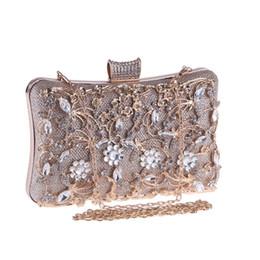 Chinese  2019 Fashion Evening Clutch Bag Fro Women Chain Handbag Female Elegant Designer Luxury Wedding Clutches Purse Sliver Box Bags manufacturers