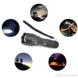 Xenon portable online shopping - DHL LED flashlight Tactical Flashlight Lumens CREE XM L2 Zoomable Modes aluminum Lanterna LED Torch Flashlights For Camping