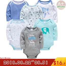Clothes 12 18 Months Australia - 2018 autumn baby boy clothes cotton full sleeve baby boy clothing underwear 3 6 9 12 18 24 months newborn baby girl clothes