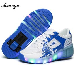 Girls shoes wheels online shopping - Aimoge Roller Sneakers Shoes Children Glowing Kids Skate Shoes with Wheels Led Light for Boy Girls Zapatillas Hombre Girl Gifts