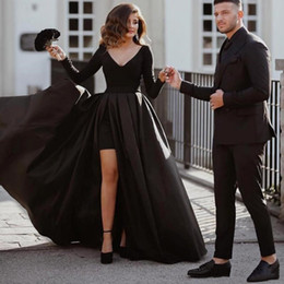 sexy celebrities dress girls Australia - Sexy Plus Size African Black Girl Black Prom Dresses 2019 Long Bestidos De Gala Celebrity Dresses Arabic Long Sleeve Evening Formal Dress