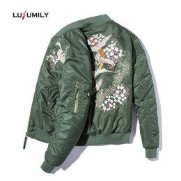 $enCountryForm.capitalKeyWord Australia - Lusumily 2019 Fashion Embroidery Jacket Jacket Women Spring Autumn Animals Flower Motorcycle Baseball Jackets Retro Classic Coat