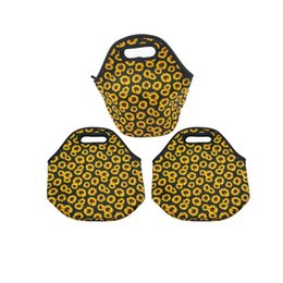 sunflower handbags Australia - Students Bento Bags Sunflower Prints Fashion Lunch Handbag Neoprene Insulated Coolers Pouch For Family Outdoors Camping 13ny E1