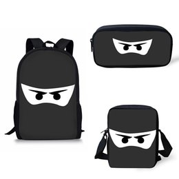 $enCountryForm.capitalKeyWord UK - Backpack School Bags for Boys Girls Black White darkness Ninja Eyes Mask print Schoolbags Teenagers Printing Bagpack Satchel