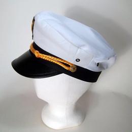 Adult Yacht Boat Captain Hat Navy Cap Ship Sailor Costume Party Fancy Dress 7dec0453bb14