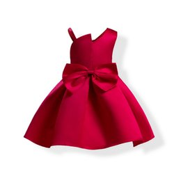 $enCountryForm.capitalKeyWord UK - Girl Dresses Satin Jumper Skirt A-Lline Princess Dresses Formal Party Wedding Ball Gown Pleated Long Skirt