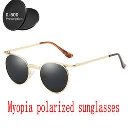 0db6f003e5 2019 men women Custom Made Myopia Minus Prescription Polarized Lens Round sunglasses  men Driving goggles UV400 with box FML