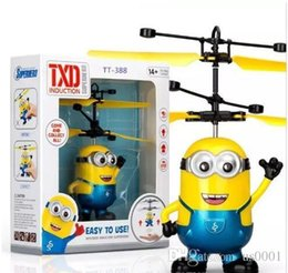 wholesale toys helicopter NZ - RC helicopter Drone kids toys Flying Ball Aircraft Led Flashing Light Up Toy Induction Electric sensor for Children