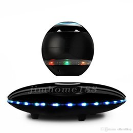 Magnetic levitating bluetooth speaker online shopping - new home theater speakers LED Portable Magnetic Levitating Floating Bluetooth Speaker Magnetic suspension wireless for smart phones