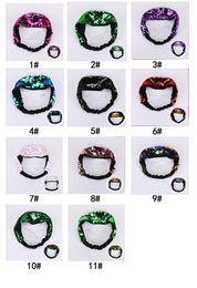 $enCountryForm.capitalKeyWord Australia - 11 color 24*6cm Mermaid flip Baby Sequin Headband Double-sided flip Color Sequins hair band headband for Girls 11colors chooseAA1964