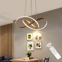 Chinese  Gold Black White Finished Acrylic Modern Pendant Lights For Living Room Dining Room Led Home Lighting Fixture Simple Led Lamps . manufacturers