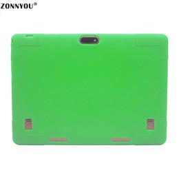 32 Inch Tablet Australia - 10.1 Tablet PC Android 7.0 3G LTE Octa Core 4 GB RAM 32 GB ROM Dual SIM Tarjetas IPS GPS Rubber Case Tablet PC +Green