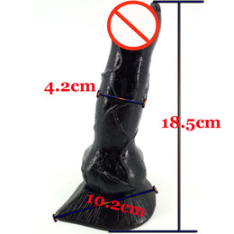 Large Masturbation Toy For Men Australia - 2019 Realistic Dog Dildo Large Wolf Dildo Animal Bdsm SM Sex Toys for Men Fetish Women Stuffed Dildo G-Spot Masturbation Anal Plug Toy Cheap