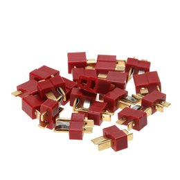 Battery Slot NZ - lipo battery 20pcs set RC Lipo Battery Helicopter 10 Pair T Plug Connectors Male Female For Deans