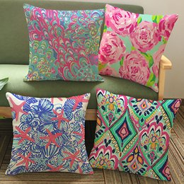 StarfiSh hotel online shopping - Starfish Pillow Covers Cushion Cover Geometric Cotton Linen Pillowcase Cushion Cover Home Office Sofa Car Decoration WX9