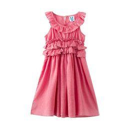 78154824ca7cc Wholesale juniors clothes online shopping - Big Girl Princess Cotton Dress  Spring Summer Teenager Ruffles Sleeveless
