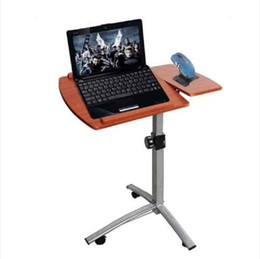 Продажи!!! Оптовые Бесплатная доставка Угол Высота Регулируемый Подвижной Стол Ноутбука Тележка Над Кроватью Стол Подставка Ноутбук стол и подставка на Распродаже