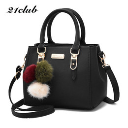 5fde9db221 21club brand women hairball ornaments totes solid sequined handbag hotsale party  purse ladies messenger crossbody shoulder bags