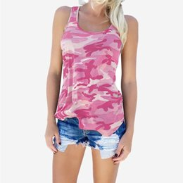 pink camo t shirts NZ - Women Camisoles Camouflage Tank Tops Sleeveless Casual T Shirt Camo Sleeveless Tanks Top Vest T-shirt Vest Crop Tops
