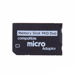 Micro SD zu Memory Stick Pro Duo Adapter Kompatibler MicroSD TF-Konverter Micro SDHC zu MS PRO Duo Memory Stick-Leser für Sony PSP 1000 2000 im Angebot