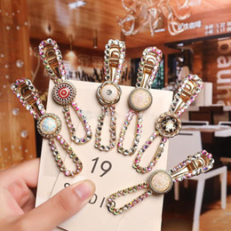 mexican headwear NZ - Women Hairpins Rhinestone Hair Clips Bobby Pins Side Clips Barrettes Bangs Clip Headwear Fashion Headdress Hair Jewelry Gift New Wholesale