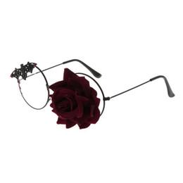 $enCountryForm.capitalKeyWord UK - Optical Glasses Steampunk Cosplay Decoration Glasses Rose Floral Bat Eyeglasses Frame Costume Ornament