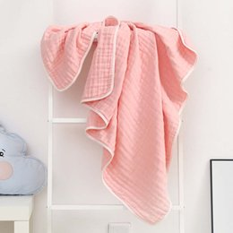 Cotton quilt Coverlet online shopping - Six Layers of Yarn Cotton Blanket Bathroom Towel Kids Coverlet Sofa Rug Throw Blankets Air conditioned Room Quilt Manta