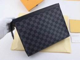 quality pvc handbags 2019 - High quality designer clutch bag men and women letter stitching small square bag female personality cosmetic bag handbag