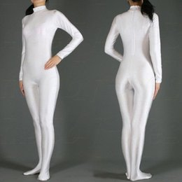$enCountryForm.capitalKeyWord Australia - Crazy2019 Free Shipping Hot Selling Lycra Spandex White Zentai Full Bodysuit Halloween Fancy Cosplay Party Costumes Second Skin Suit