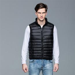 $enCountryForm.capitalKeyWord Australia - 2019 New Winter Men 90% White Duck Down Vest Portable Ultra Light Sleeveless Jacket Portable Waistcoat for Men