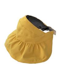$enCountryForm.capitalKeyWord Australia - Children's summer empty hat thin section sun visor cute tide baby sun hat Han girl fisherman hat