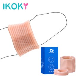 $enCountryForm.capitalKeyWord Australia - Ikoky 1 Pair Foreskin Correction Penis Ring Screw Shape Cock Ring Delay Ejaculation Sex Toys For Men Two Sizes Sex Products SH190706