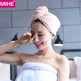 $enCountryForm.capitalKeyWord NZ - MIHE Lady's Dry Hair Towel Bathroom Soft Super Absorbent Quick-drying Microfiber Bath Towel Hair Dry Cap Salon Towel GFJ01 D19011201