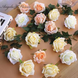 $enCountryForm.capitalKeyWord Australia - Diy Painting Silk Rose Flower Heads Artificial Decoration Road Led For Wedding Flowers Wall Decor Hotel Background 30pcs lot J190707