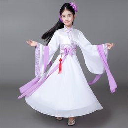 Girls Chinese Costumes Australia - Girls clothing Han Chinese clothing costume fairy princess in ancient dress costumes zither The New Performance JQ661