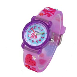 acrylic water glasses Australia - BAIWEIZHEN Children's Watch Love-heart Style Watches Fashion Cute Acrylic Glass Stainless Steel Waterproof Wrist Watches Purple NO86182