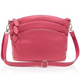 Red Rose Black Bag UK - Boshikang Genuine Leather Women Messenger Bags Mother Daily Shopping Bags Real Cowskin Ladies Shoulder Rose Red